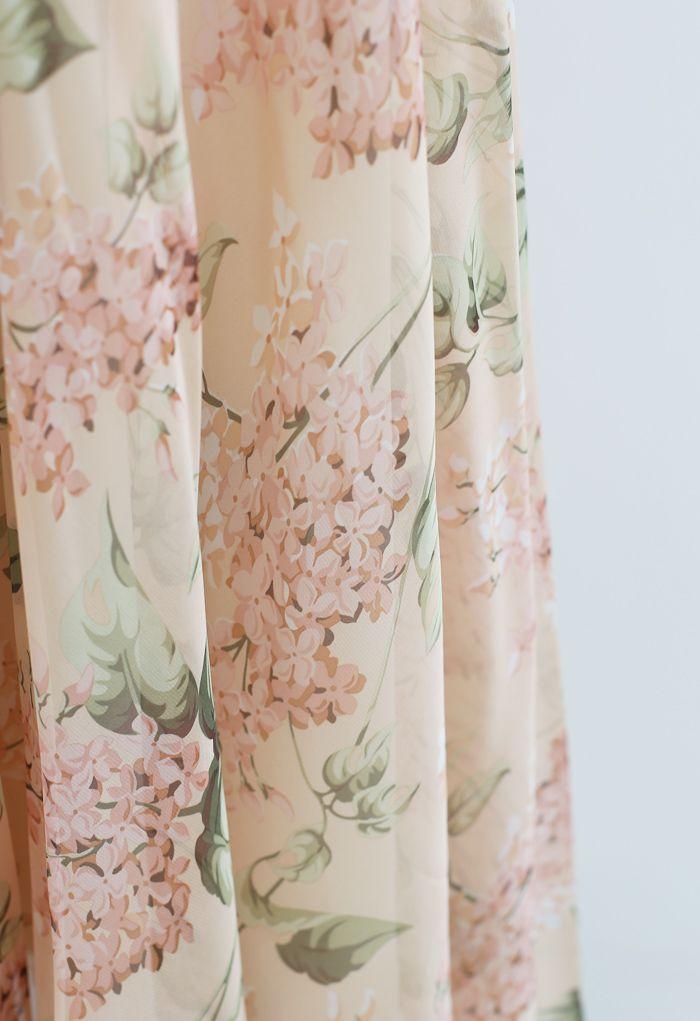 Blooming Hyacinth Watercolor Maxi Skirt