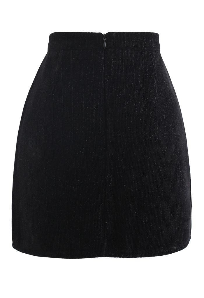 Glimmer Lines Corduroy Bud Skirt