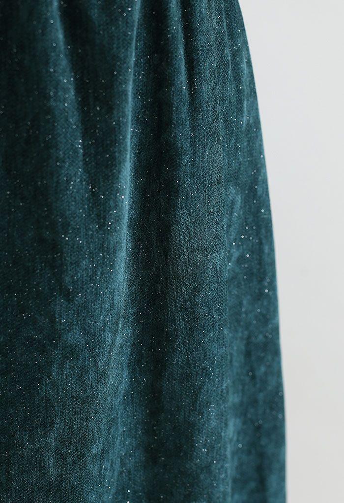 My Secret Garden Tulle Maxi Skirt in Glitter Green