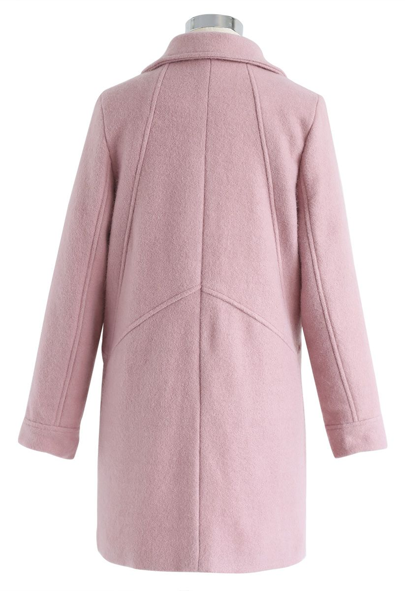 Take Up the Challenge Wool-Blend Coat in Pink