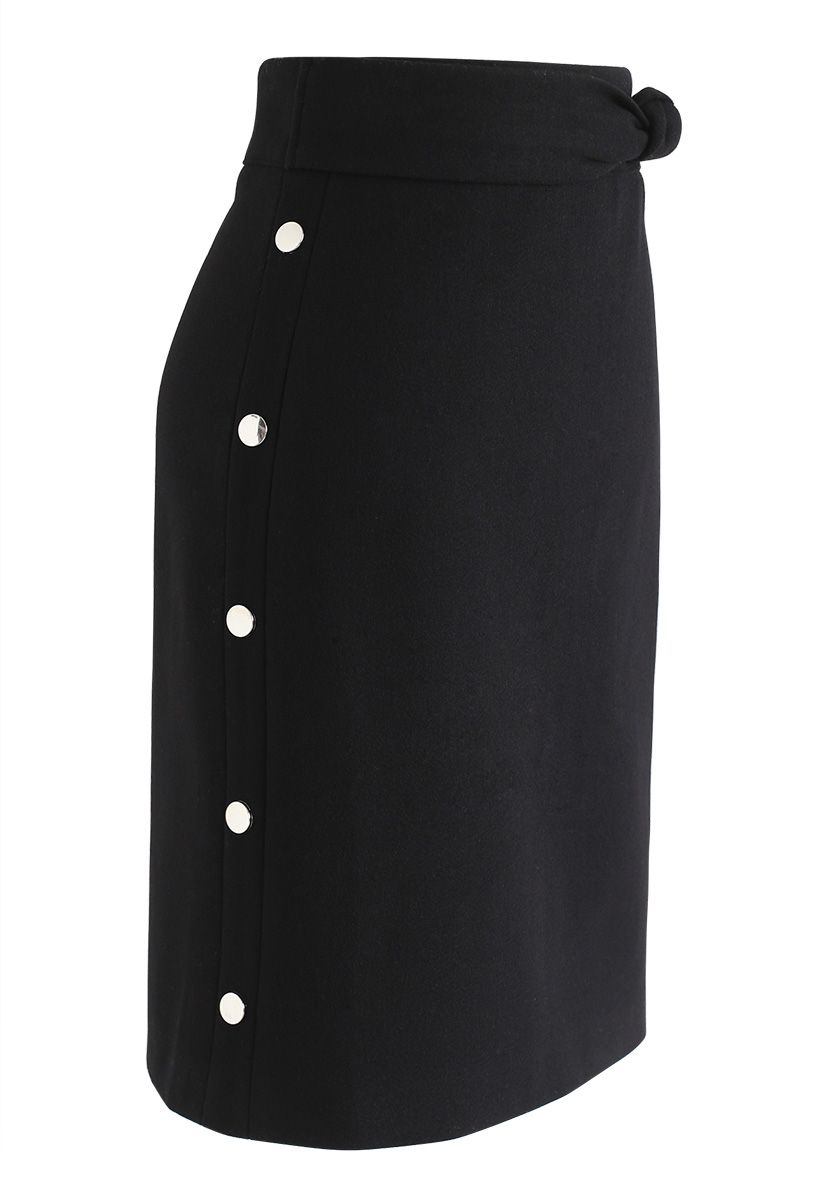 Get It Started Bowknot Bud Skirt in Black