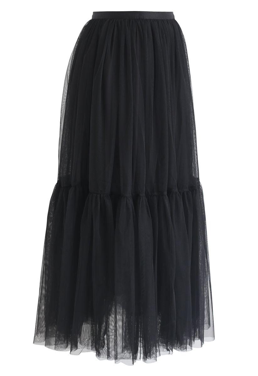 不能讓黑色的網眼薄紗裙