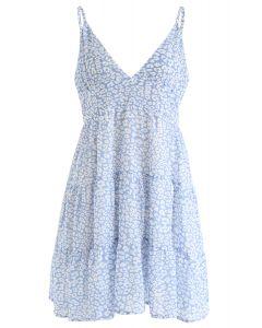 Enchanted Floret Chiffon Mini Cami Dress