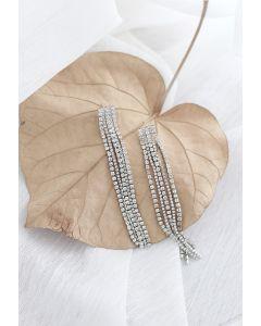 Silver Chain Tassel Earrings