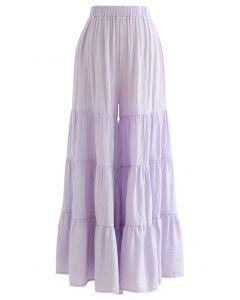 寬鬆闊腿褲--紫丁香色