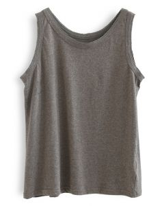 Cozy Cotton Tank Top in Taupe