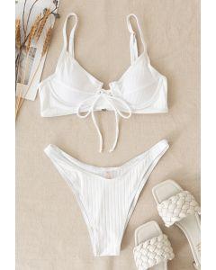 Low-Rise Strapped Bikini Set in White