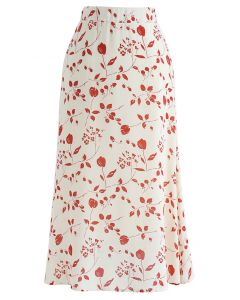 Rosebud A-Line Midi Skirt