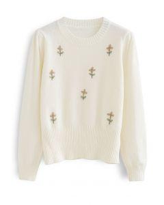 Stitch Floret Soft Knit Sweater