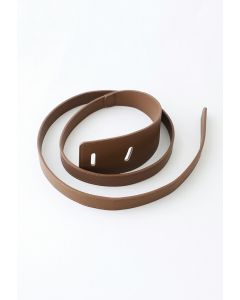 Trendy Chic Faux Leather Belt