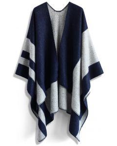藍色毛毯式斗篷