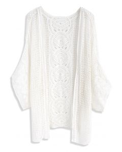 Found My Gladness Knit Cardigan in White