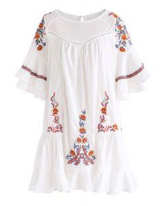 波西米亞荷葉邊連身裙