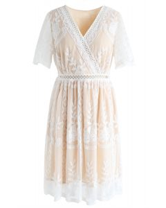 Sweet Dreams Floral Embroidered Mesh Dress