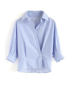 Wrap Up A Vacation Shirt in Blue Stripe