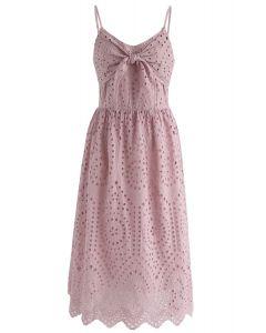 粉紅色派對播放列表雞眼扣Cami連衣裙