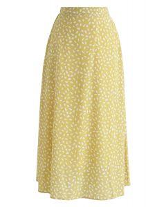 關於黃色斑點雪紡裙的東西