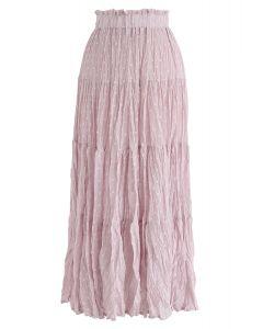 從現在開始粉紅色的圓點百褶裙