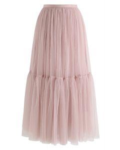 不能讓粉紅色的網眼薄紗裙