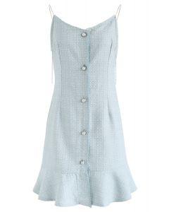 這將是藍色的粗花呢Cami連衣裙