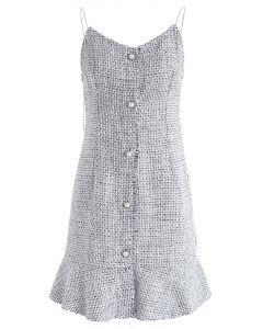 這將是灰色的粗花呢Cami連衣裙