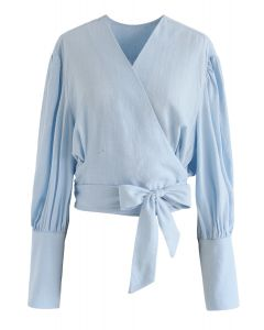 Eternal Classical Wrapped Top in Blue