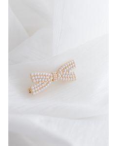 Pearl Bowknot Hair Clip