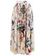 熱帶花卉褶皺半裙