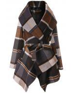 復古格紋披肩外套
