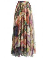 富有色彩的水彩長裙
